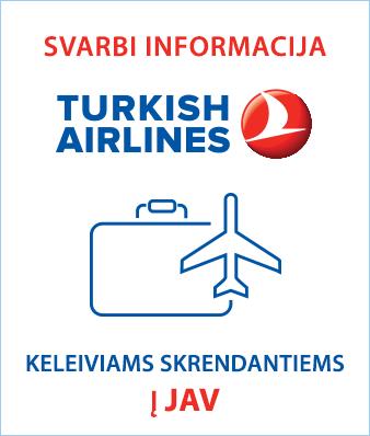 turkish airlines įspėjimas
