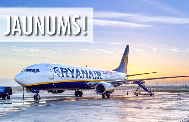 Ryanair JAUNUMS – reisi ar pārsēšanām