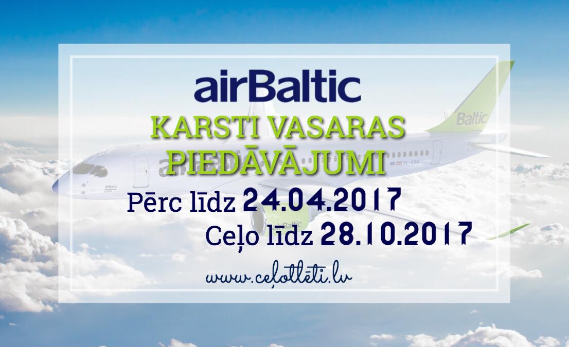 airBaltic karstais PIEDĀVĀJUMS