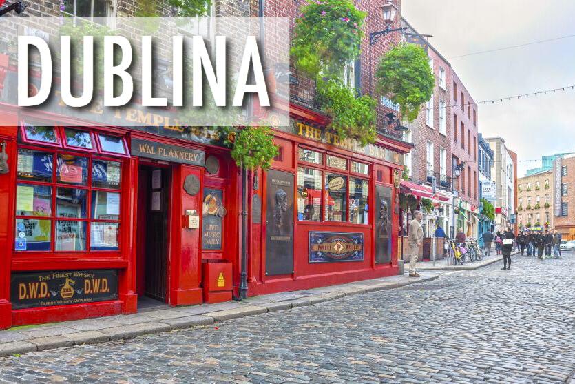 Aviobiļetes uz Dublinu / Zemo cenu lidojumi uz Dublinu, Īriju