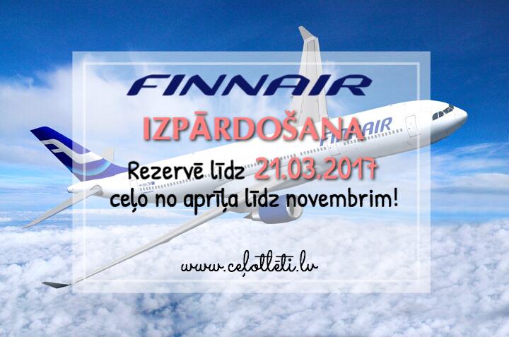 Ceļotlēti.lv piedāvā Finnair atlaides!