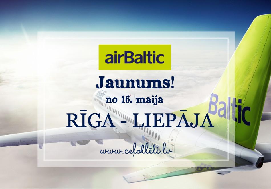Ceļotlēti.lv tagad arī iekšzemes reisi: Rīga – Liepāja